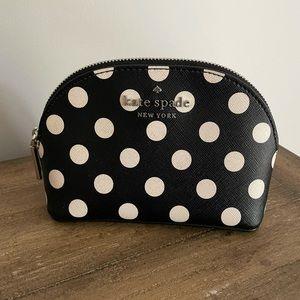 Kate Spade Black & White Polka Dot Cosmetic Case